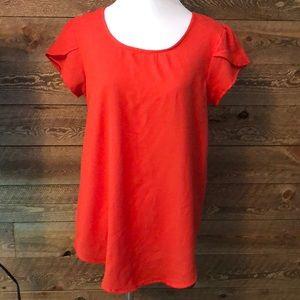 Stitch Fix Marisol Tulip sleeve top Tomato red